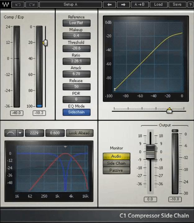 Gee Mixing Vocals - Waves C1