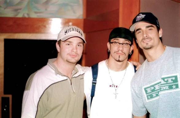 Adam Barber with Aj McLean and Kevin Richardson (BackStreet Boys)