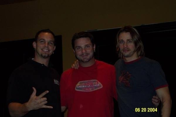 Mark and Myles (Alter Bridge) with Adam Barber
