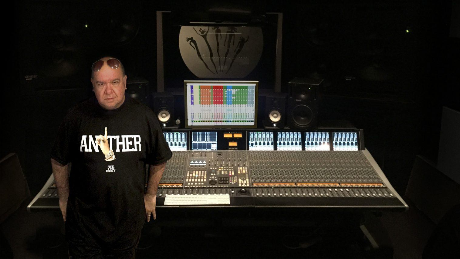 Lu In Front of Console