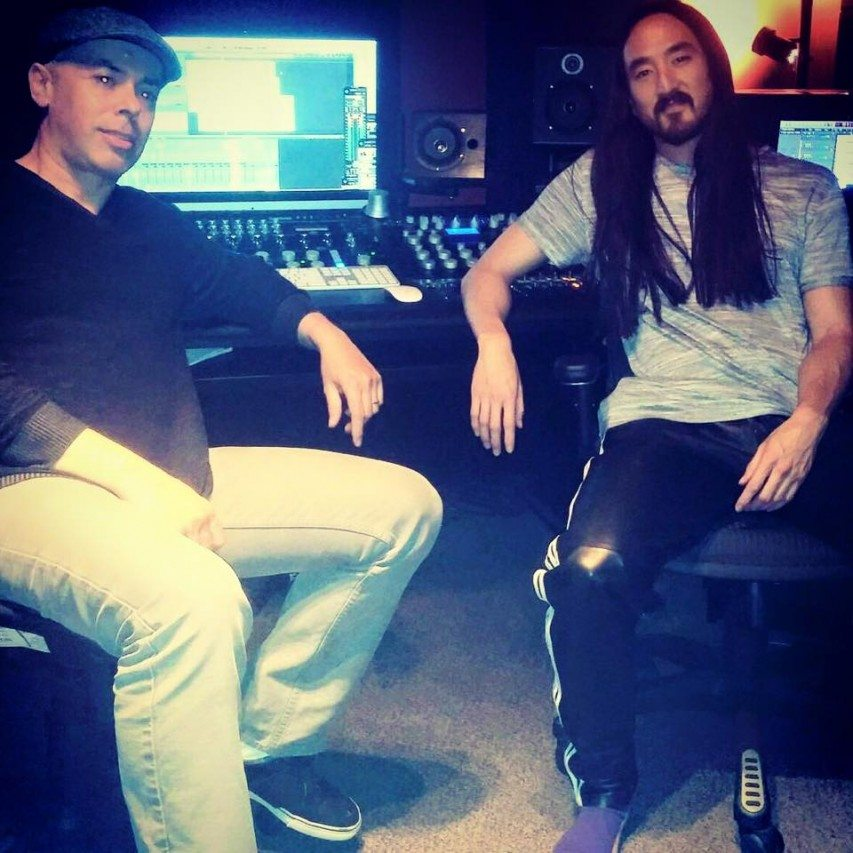 Steve Aoki and Luca at DMI Studios