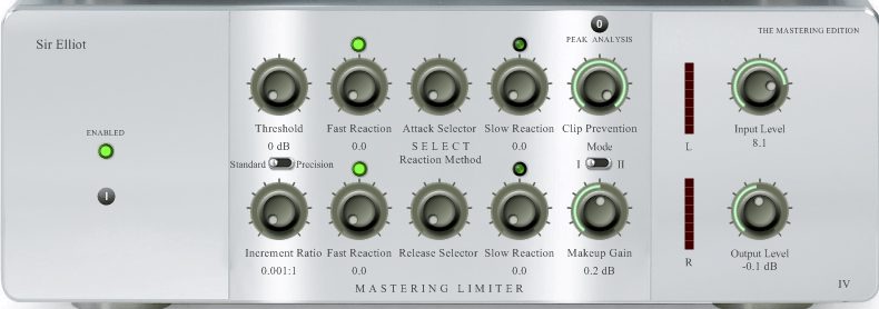 Treating the Mix Buss - Sir Eliot Mastering Limiter