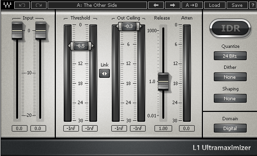 Treating the Mix Buss - Waves L1 Limiter
