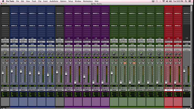 Organized Mix Session