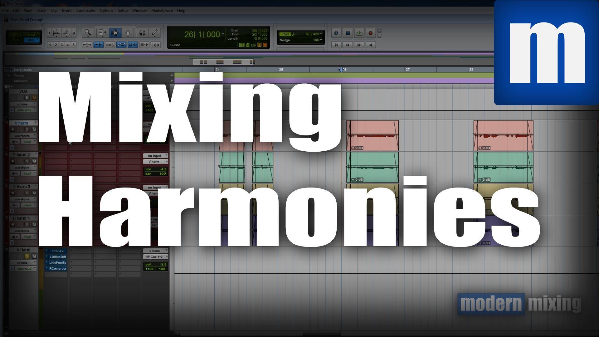 How To Mix Harmonies Around Lead Vocals Modernmixing Com
