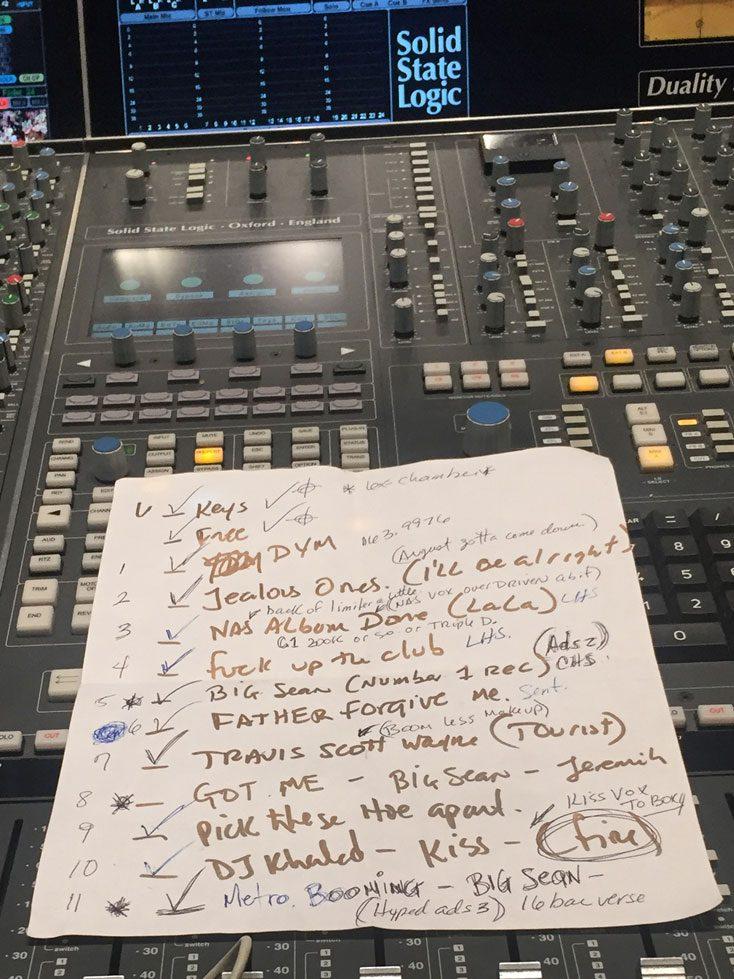 Mixing Notes for DJ Khaled's Major Keys